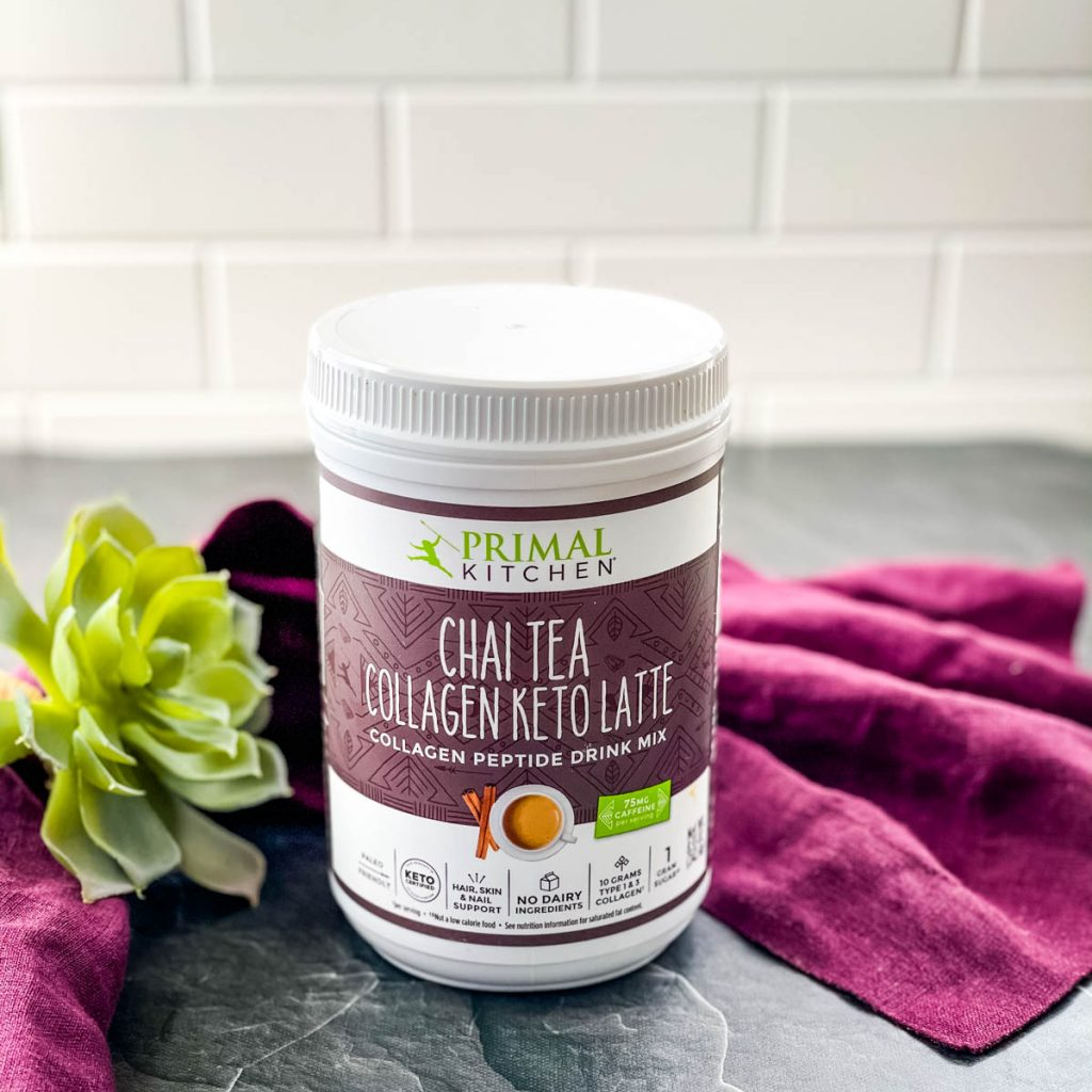 Primal Kitchen Chai Collagen on a flat surface