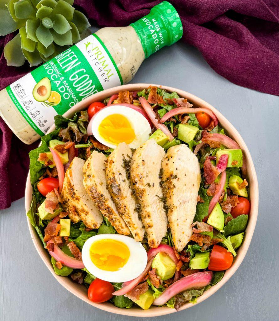 green goddess cobb salad in a bowl