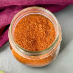 homemade taco seasoning in a glass jar