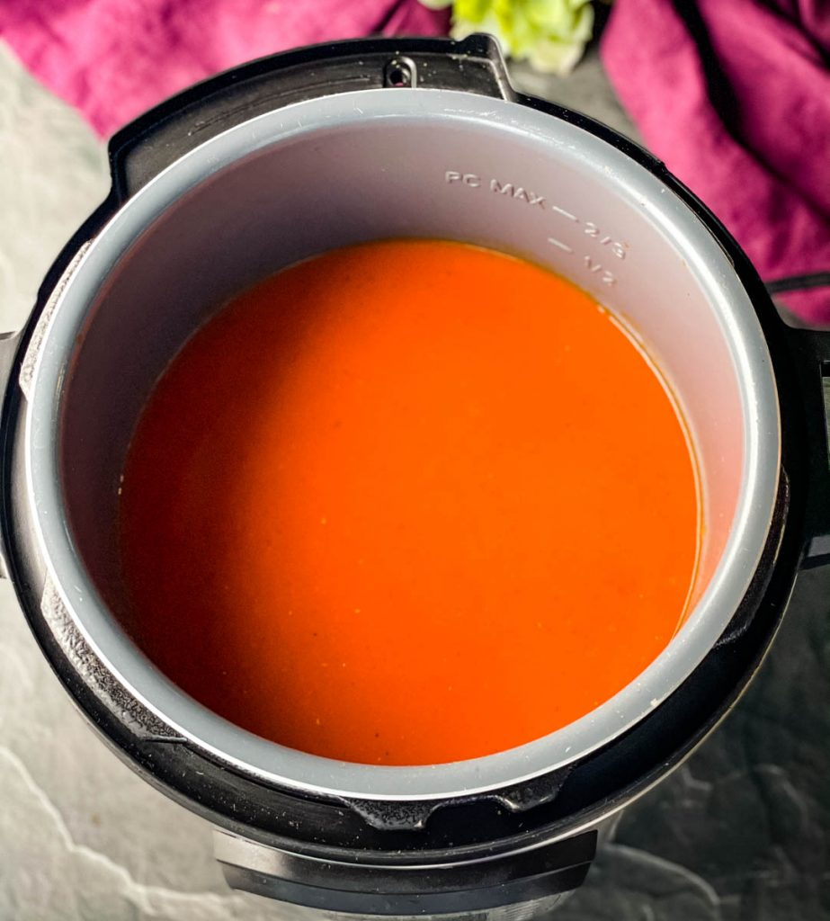 tomato soup in an Instant Pot