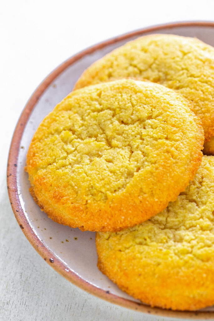 keto low carb lemon cookies on.a white plate