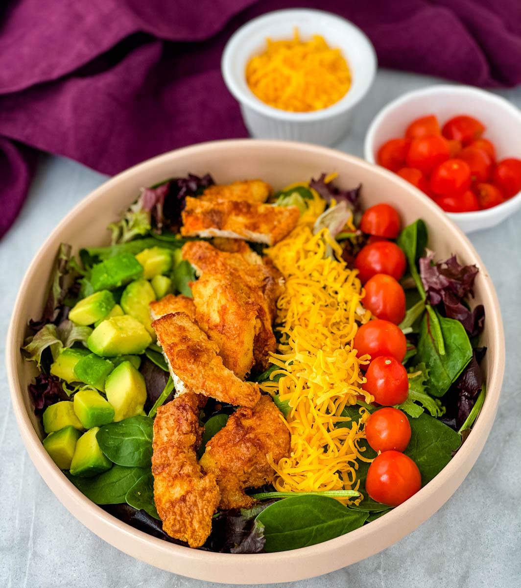 Crispy Fried Chicken Salad Video