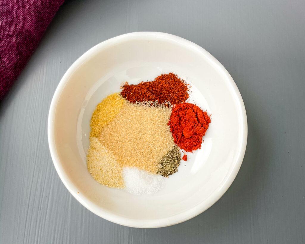 homemade BBQ rub and seasoning in a bowl