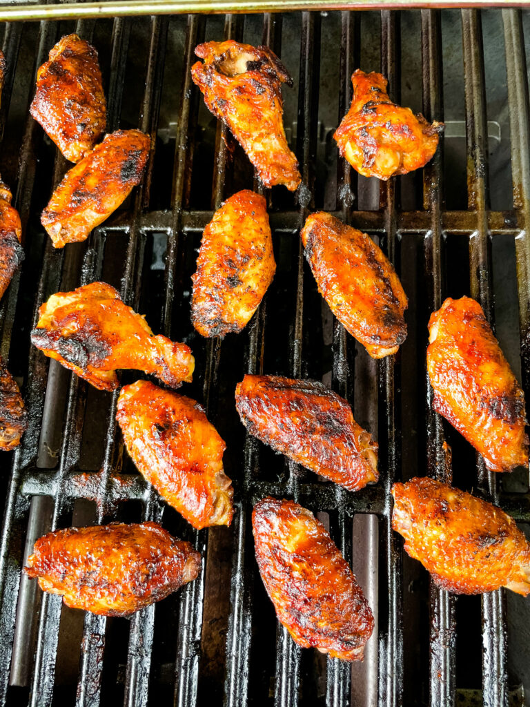 chicken wings on a grill