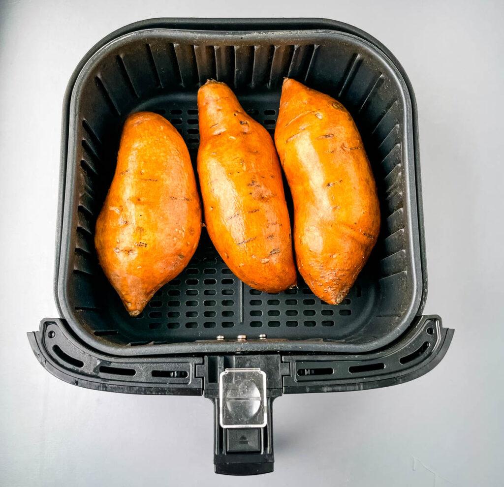 sweet potatoes in an air fryer