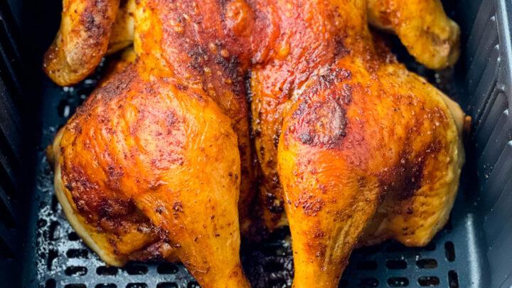 spatchcock chicken in air fryer