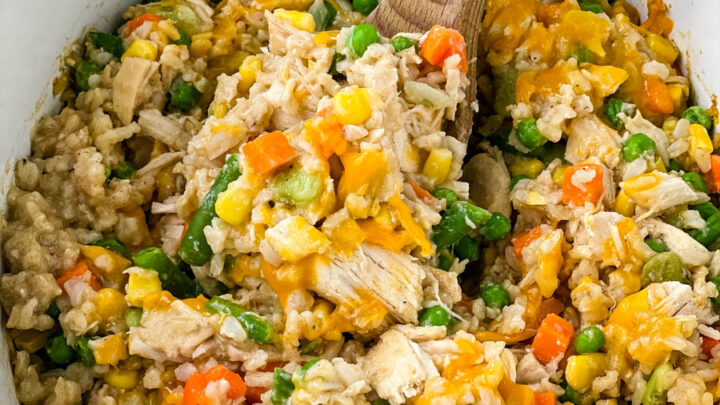 chicken and rice in a Crockpot slow cooker