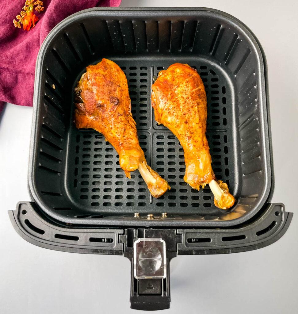 two slow cooker crockpot turkey legs